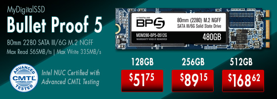 MyDigitalSSD BP5e M.2 NGFF 80mm (2280) SSD. Click here to shop