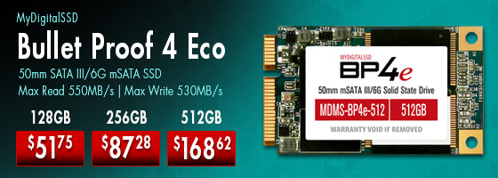 MyDigitalSSD Bullet Proof 4 Eco mSATA