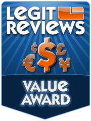 Legit Reviews: Value Award