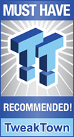 TweakTown Recommended Award Winner