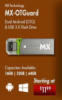 The MX-Tech OTGuard is a dual Android OTG and USB 3.0 flash drive. Starting at $11.99. Get yours today!