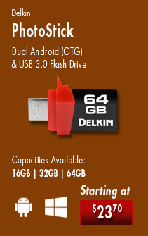 Delkin PictureSticks are dual Android OTG and USB 3.0 flash drives. Connect the PictureStick to your smartphone and transfer images to a photo kiosk. Starting at $23.70. Get yours today!
