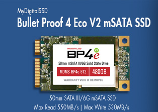 View all MyDigitalSSD Bullet Proof 4 Eco V2 (BP4eV2) 50mm 6G mSATA SSDs MyDigtalSSD mSATA SSD.