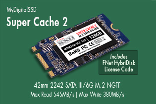 View all MyDigitalSSD Super Cache 2 (SC2) 42mm (2242) 6G M.2 NGFF SSDs