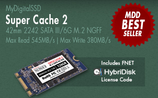 View all MyDigitalSSD Super Cache 2 42mm M.2 NGFF 6G SSDs