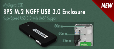 View the new BP5 M.2 NGFF enclosures with SSD bundle options by MyDigitalSSD