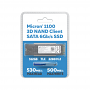512GB Micron 1100 3D NAND SATA 6Gbps 2280SS M.2 SSD Blister Pack