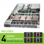 Supermicro SuperServer 1U 1029GQ-TXRT with 4x NVIDIA Pascal P100 GPU Factory Installed