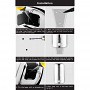 Norye Wall-Mount 1200ml Satin Finish 304 Stainless Steel Soap and Sanitizer Dispenser Installation Instructions