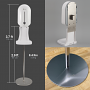 XinDa 1100 ml Automatic No-Touch Infrared Hand Sanitizer Soap Dispenser with Floor Stand Dimensions