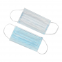 RONGBOKANG Disposable 3-Ply Non-Woven Earloop Face Masks - Front and Back