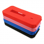 Black, blue, pink, and red rubber MyDigitalSSD BP5 M.2 NGFF enclosure cases