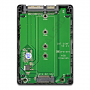 Compatible with 2230, 2242, 2260, and 2280 SATA M.2 NGFF SSDs