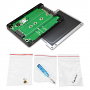 Adapter enclosure includes screws and screwdriver for easy installation