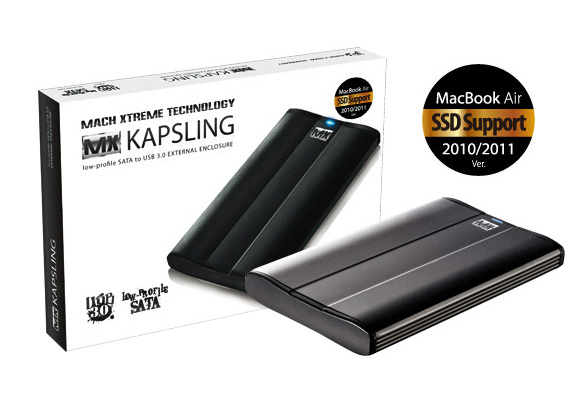 MX-Technology MX-KAPSLING Low-Profile SATA to USB 3.0 External SSD Enclosure for MacBook Air - MXKEE