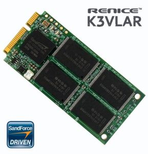 Renice 60GB K3VLAR 70mm Mini PCI-e SATA II SSD Solid State Drive with SandForce 1200 Controller - RN-K3P-S7060