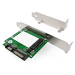 MyDigitalSSD mSATA to SATA II / III 6G SSD Adapter with Full-size and Low-profile Tower Brackets - MDMS-MSATA-BRKT