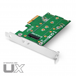 MyDigitalSSD UX Universal M.2 PCIe NVMe SSD to PCI Express 3.0 x4 Adapter Card with 80mm (2280) 60mm (2260) 42mm (2242) 30mm (2230) Support - MDNVMEM2-UX-ADPT