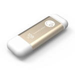 Adam Elements 128GB iKlips Lightning USB 3.0 Dual-Interface Flash Drive - Gold - ADRAD128GIKLGD