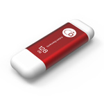 Adam Elements 128GB iKlips Lightning USB 3.0 Dual-Interface Flash Drive - Red - ADRAD128GIKLRD
