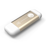Adam Elements 32GB iKlips Lightning USB 3.0 Dual-Interface Flash Drive - Gold - ADRAD32GIKLGD
