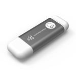 Adam Elements 32GB iKlips Lightning USB 3.0 Dual-Interface Flash Drive - Grey - ADRAD32GIKLGY