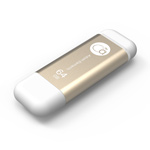 Adam Elements 64GB iKlips Lightning USB 3.0 Dual-Interface Flash Drive - Gold - ADRAD64GIKLGD