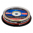 Delkin Devices 10 Pack BD-R Archival Gold Blu-Ray 25GB 6X Inkjet Printable Discs Spindle - DDBD-R-I/10 SPIN 6X