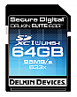 Delkin 64GB 633X ELITE633 UHS-1 SDXC Flash Memory Card - DDSDELITE633-64GB