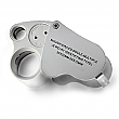 LED Lit Double Jewelers Loupe Magnifier with Case