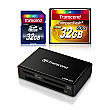 Transcend 32GB CF + 32GB SDHC + Card Reader Bundle for Canon EOS 5D Mark III and Nikon D800 Digital SLR Cameras - TS064-BUNDLE