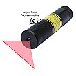 DAVID Vision Systems 5mW Red Line Laser Adjustable Focus including Battery - LE650-5-3-F-S(22x100)90