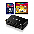 Transcend 64GB CF + 64GB SDXC + Card Reader Bundle for Canon EOS 5D Mark III and Nikon D800 Digital SLR Cameras - TS128-BUNDLE
