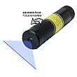 DAVID Vision Systems 5mW Battery-Operated Blue Line Laser with Adjustable Focus - LE405-5-3-F-S(22x100)