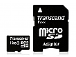 Transcend 16GB Class 4 microSDHC Card with SD 2.0 Adapter - TS16GUSDHC4