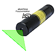 DAVID Vision Systems 5mW Green Line Laser with Adjustable Focus including Battery - LE532-5-3-F-S(22x130)90