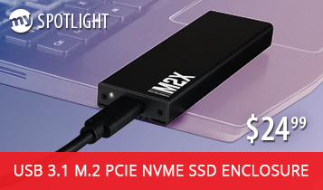 MyDigitalSSD M2X Universal USB 3.1 Gen 2 PCIe NVMe M.2 SSD Enclsoure Adapter now only $24.99